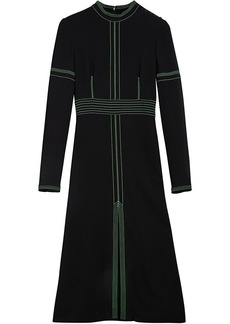 Burberry topstitch detail crepe dress - Black