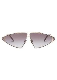 Burberry Triangular gold-plated sunglasses