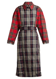 Burberry Two-tone tartan cotton trench coat