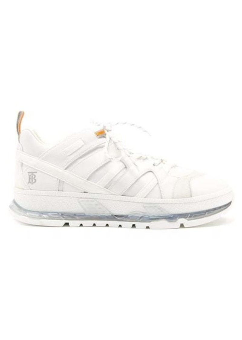 Burberry Union mesh and leather trainers