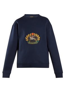 Burberry Unisex crest-embroidered round-neck sweatshirt
