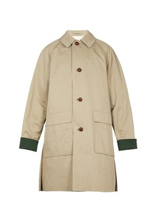 Burberry Unisex raglan-sleeved patch-pocket cotton coat