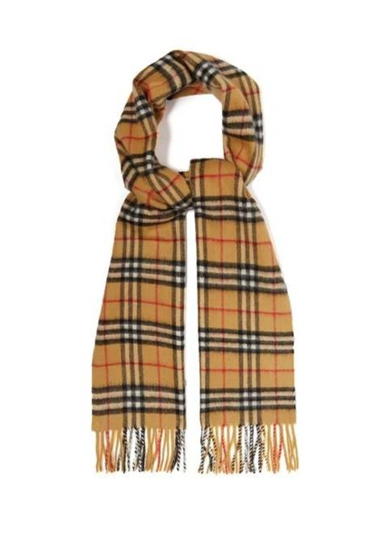 Burberry Vintage check brushed-cashmere scarf
