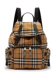Burberry Vintage-check canvas backpack