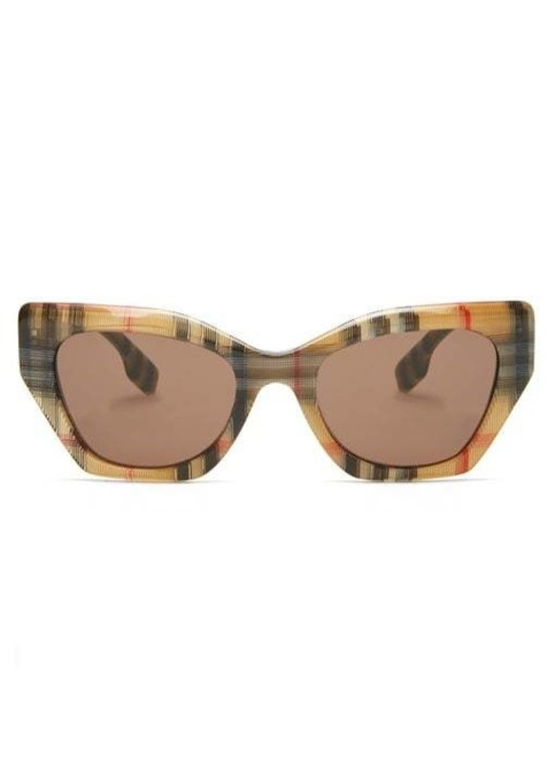 Burberry Vintage-check cat-eye acetate sunglasses