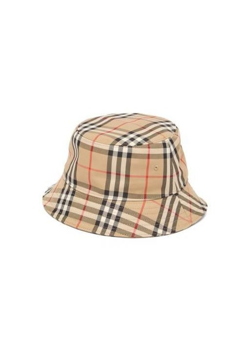 Burberry Vintage-check cotton bucket hat