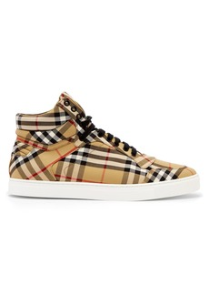 Burberry Vintage Check cotton high-top trainers