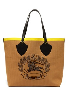 Burberry Vintage-check large stretch-knit tote