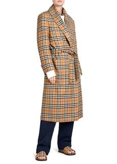 Burberry Vintage Check Robe Coat