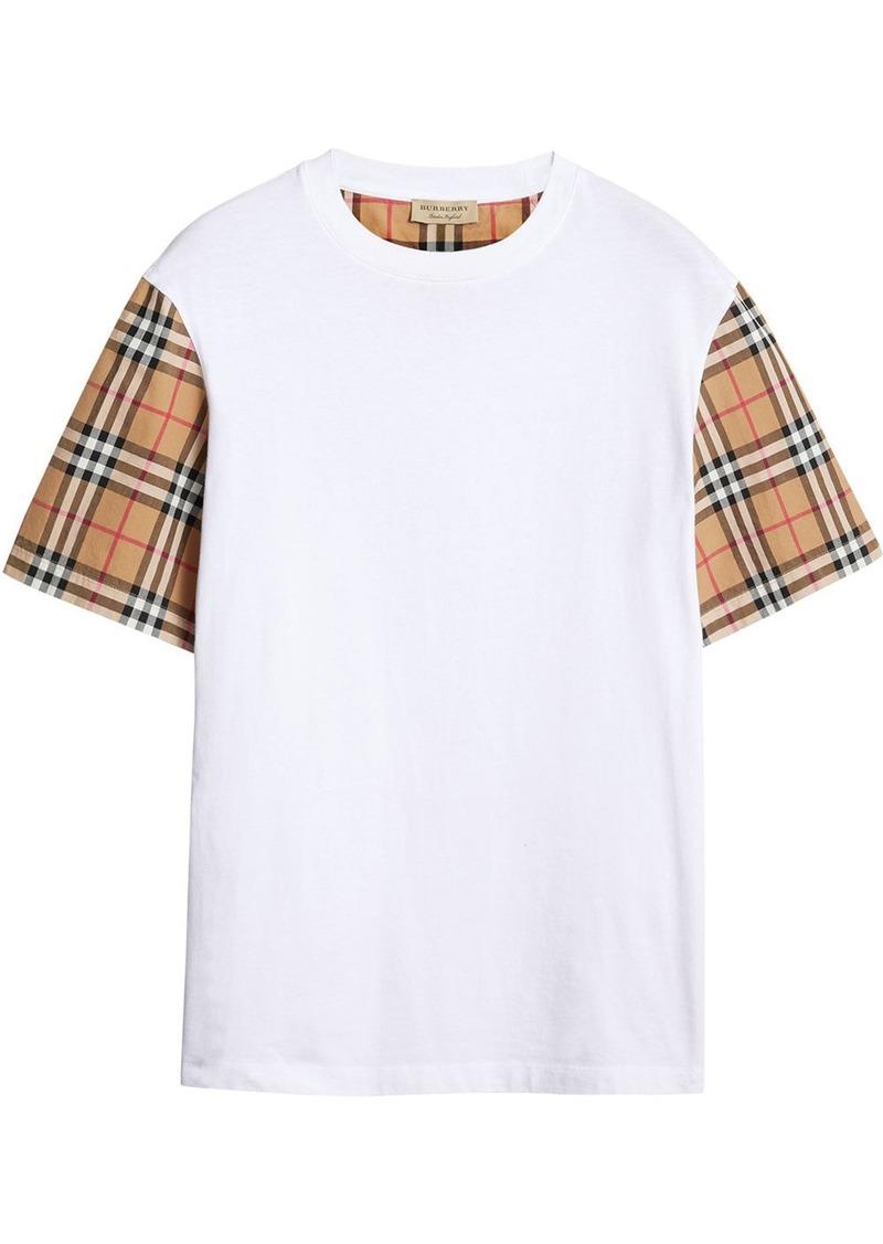 Burberry oversized check-sleeve T-shirt