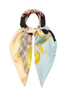 Burberry Vintage-print silk scarf