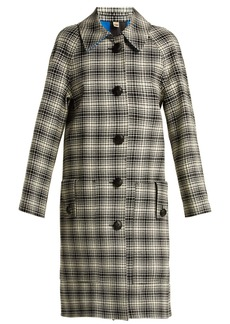 Burberry Walkden houndstooth A-line wool coat