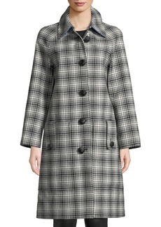 Burberry Walkden Plaid Wool Coat