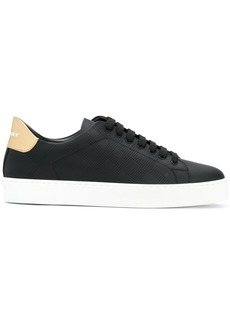 Burberry Perforated Check Leather trainers - Black