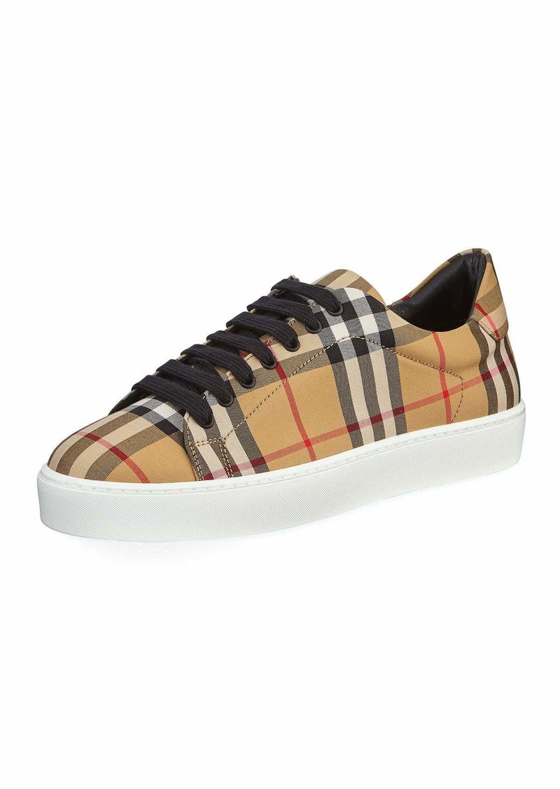 a824b179bad Burberry Westford Vintage Check Low-Top Sneakers