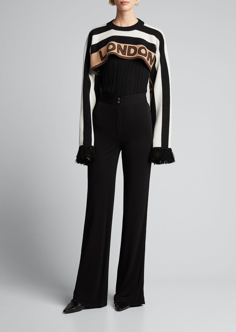 Burberry Wide-Leg Jersey Pants