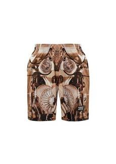 Burberry Wilford submarine-print mesh shorts