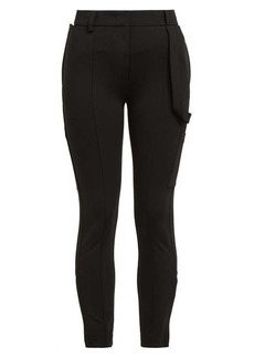 Burberry Willberg high-rise crepe trousers
