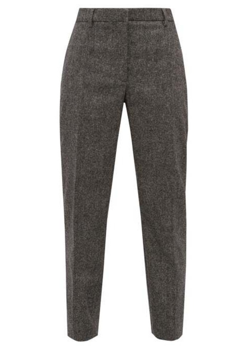 Burberry Wiluna cropped tapered-leg wool trousers