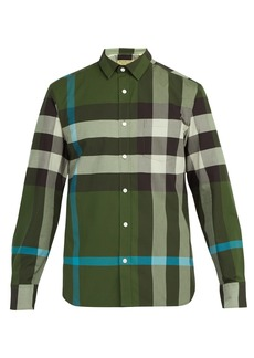 Burberry Windsor oversized-check cotton-blend shirt