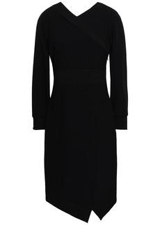 Burberry Woman Asymmetric Crepe Dress Black