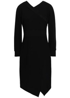 Burberry Woman Asymmetric Crepe Dress Black