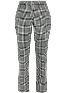 Burberry Woman Checked Wool Straight-leg Pants Black