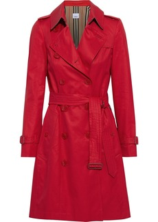 Burberry Woman Cotton-gabardine Trench Coat Red