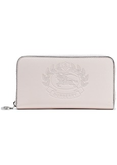 Burberry Woman Embossed Leather Wallet Pastel Pink