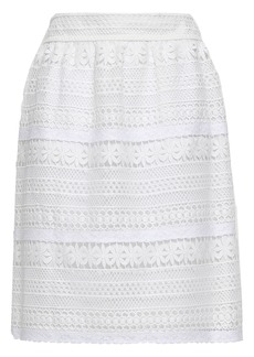 Burberry Woman Guipure Lace Skirt White