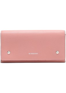 Burberry Woman Pebbled-leather Continental Wallet Antique Rose
