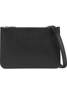 Burberry Woman Pebbled-leather Shoulder Bag Black
