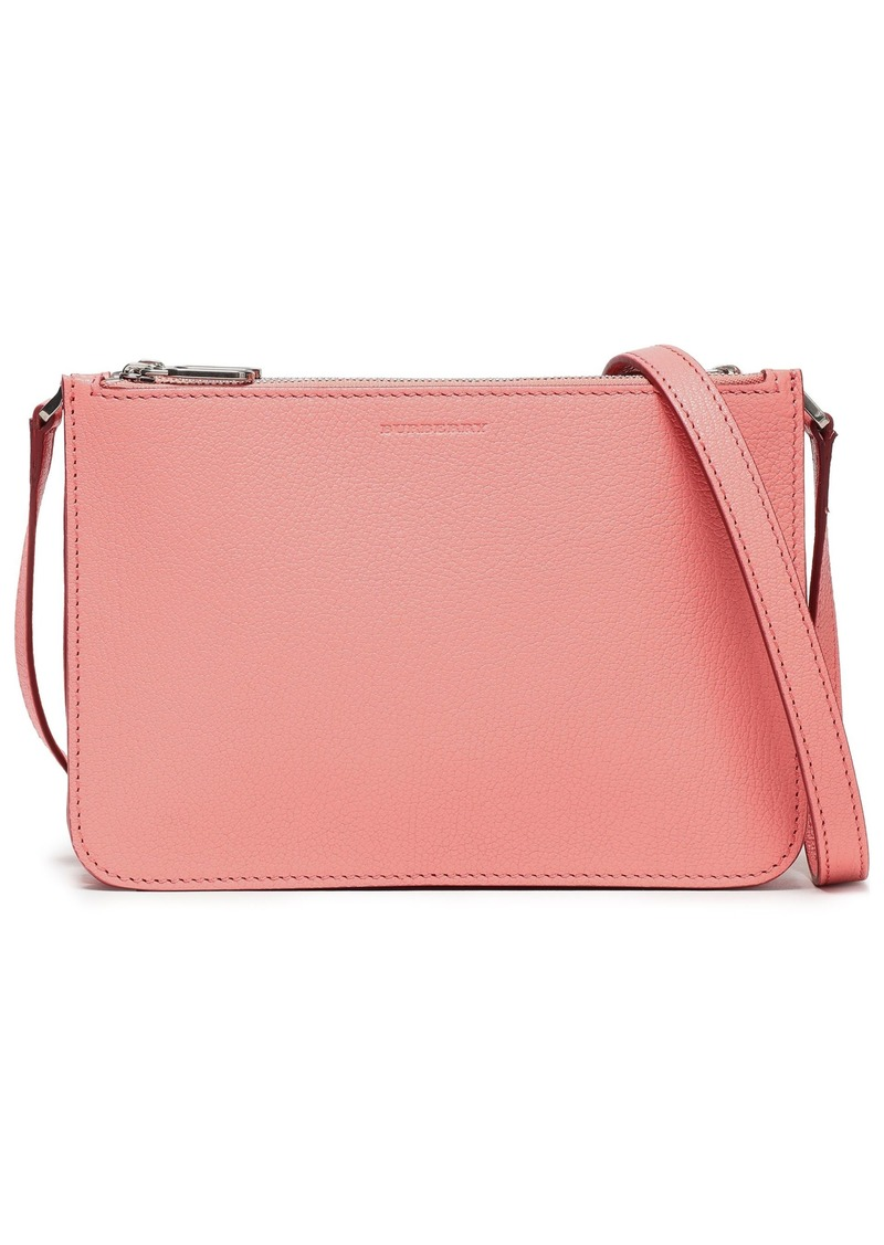 Burberry Woman Pebbled-leather Shoulder Bag Coral