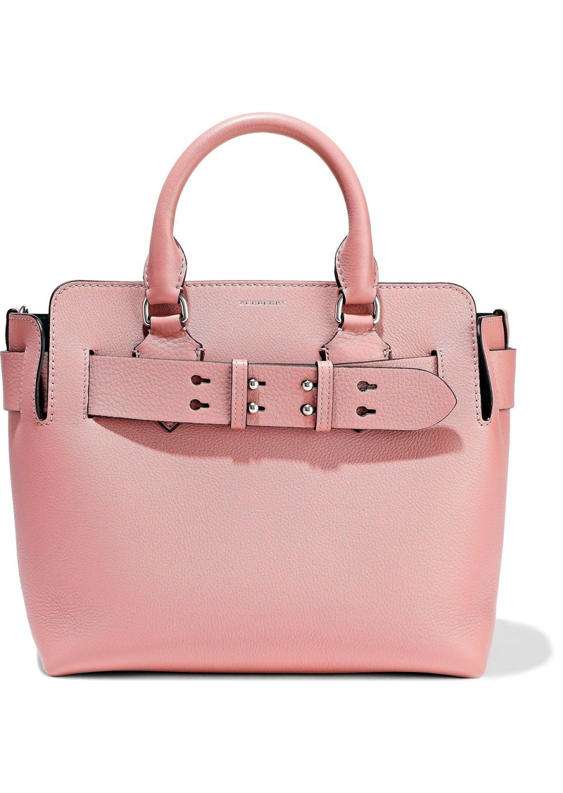 Burberry Woman Pebbled-leather Tote Antique Rose