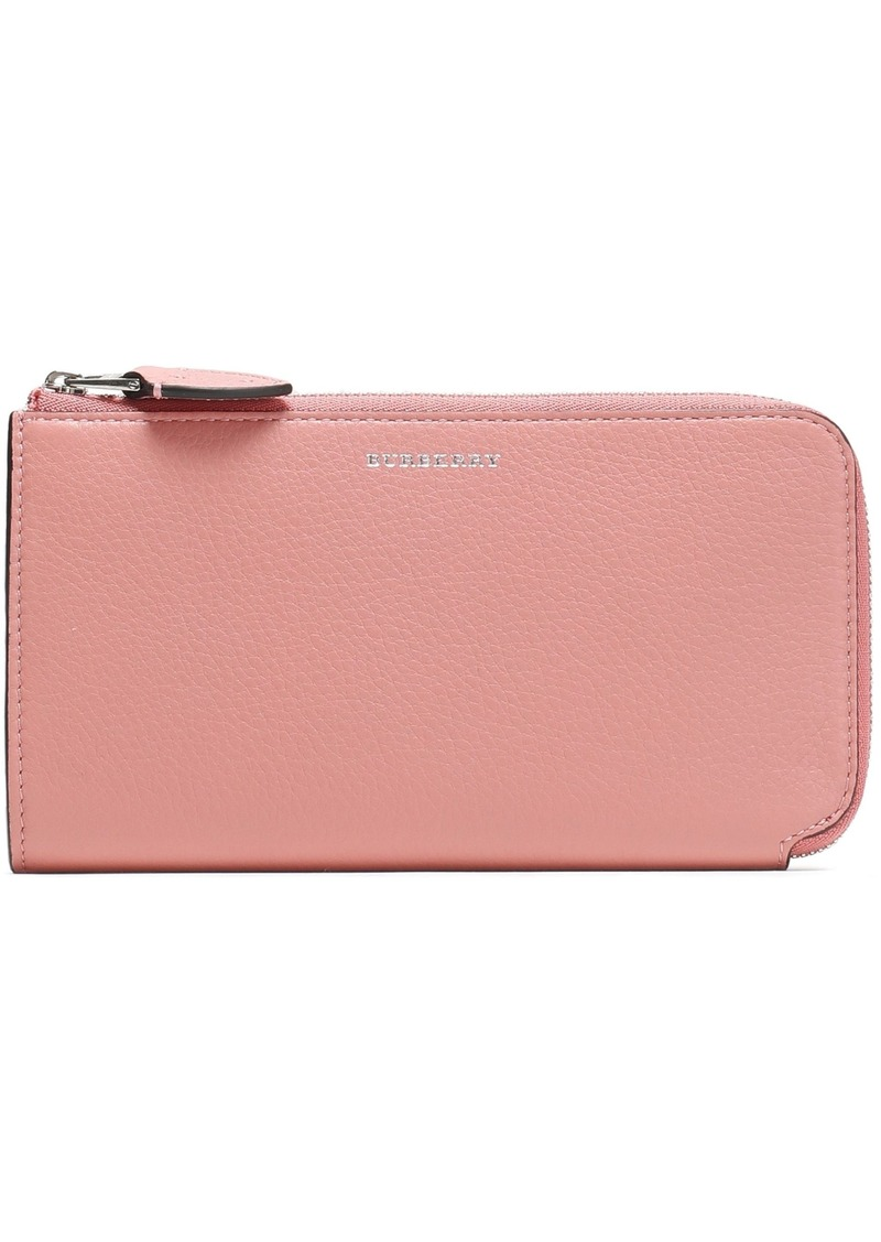 Burberry Woman Pebbled-leather Wallet Antique Rose