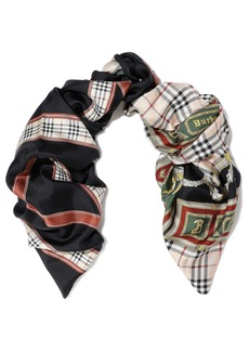Burberry Woman Printed Silk-satin Twill Scarf Multicolor