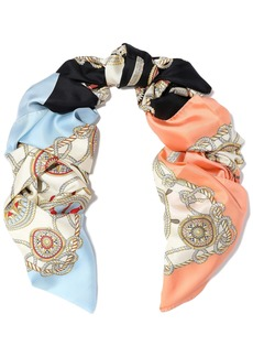 Burberry Woman Printed Silk-twill Scarf Cream