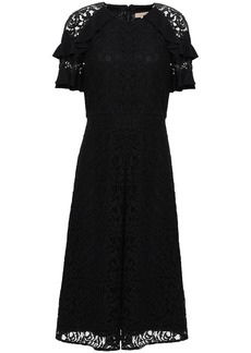 Burberry Woman Ruffle-trimmed Lace Dress Black