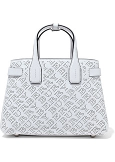 Burberry Woman Small Perforated Leather Tote White