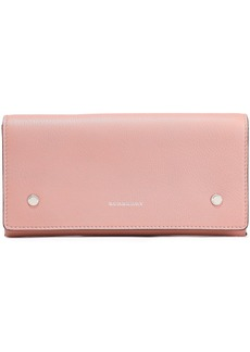 Burberry Woman Textured-leather Continental Wallet Blush