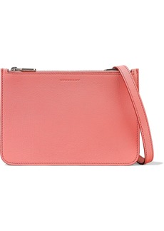 Burberry Woman Textured-leather Shoulder Bag Pink