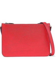 Burberry Woman Textured-leather Shoulder Bag Red