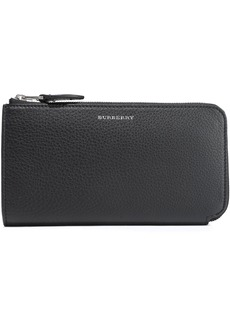 Burberry Woman Textured-leather Wallet Black