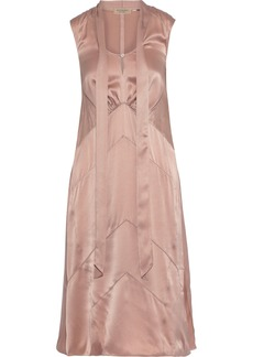 Burberry Woman Tie-neck Silk-charmeuse Dress Antique Rose