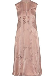 Burberry Woman Tie-neck Silk-charmeuse Dress Antique Rose