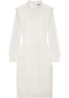 Burberry Woman Tulle And Cotton-blend Lace Dress White
