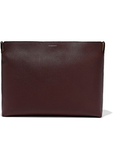 Burberry Woman Two-tone Pebbled-leather Clutch Antique Rose