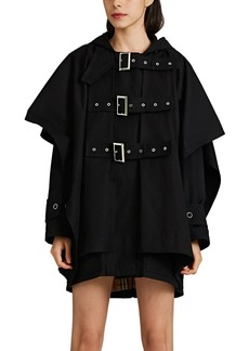 Burberry Women's Buckle-Detailed Cotton Twill Cape