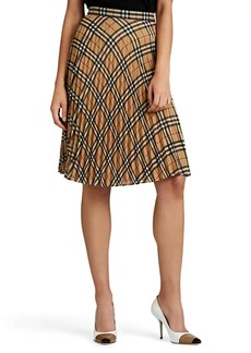 Burberry Women's Checked Chiffon Skirt