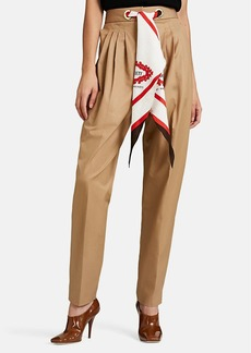 Burberry Women's Cotton Twill Tapered Trousers